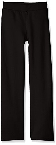 Hanes Girls' Big Girls' Comfortsoft Ecosmart Open Bottom Fleece Sweatpant, Black, L