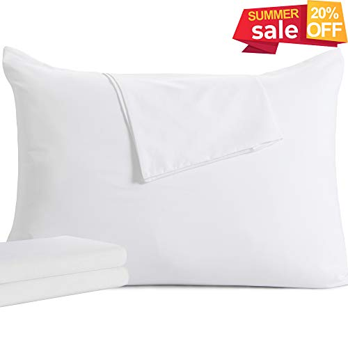 downluxe 2 Pack Queen Zippered Pillow Protectors - Premium Breathable Pillow Covers