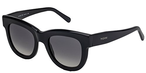 Pagani Fiore Italian Designer Sunglasses For Women   Flexible Prescription Ready Frames   Unique Colors And Exclusive Designs   Includes Authentic Pagani Premium Case  Marble  Black