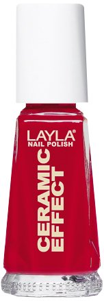 Layla Ceramic Effect Nail Polish, Oh My Red, 1.9 Ounce (Ceramic Nail Lacquer)