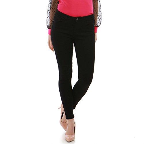 Femme La Coupe Jeans Noir Slim Modeuse qqYz0E