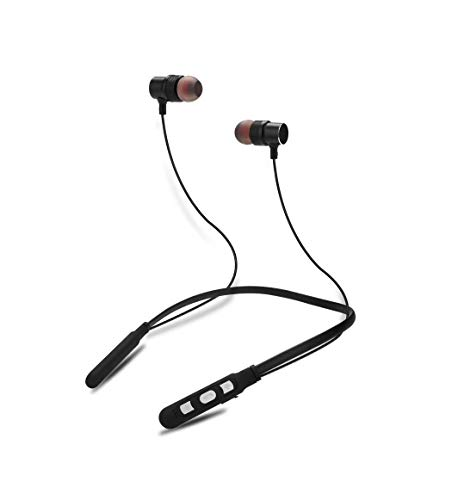 fiado high bass Wireless Neckband AY 01 Flex Stereo hd Sound Wireless Bluetooth Headphone with mic  Black,in Ear