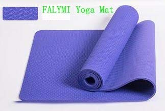 YOOMAT 8mm Thick Red Color Durable&Pink TPE Yoga MATS,Purple ...