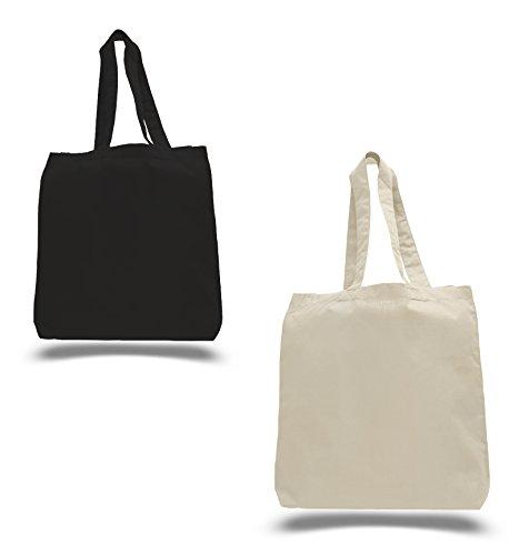 set of 50 wholesale 100 natural cotton plain tote bags bulk eco