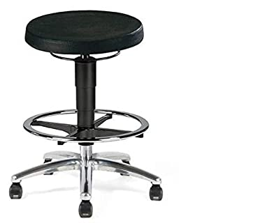 Camlab 1198312 Hyad 2 High Lab Stool with Castors and PUR Seat