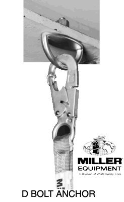 - Miller Fall Protection-Anchorage connectors - D bolt anchor