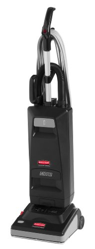 Rubbermaid Commercial Executive Series Manual Height Adjustment Upright Vacuum Cleaner, 12-Inch, Black (1868440)