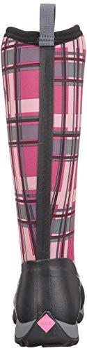 Fodera Calda Muck Arctic Al Donna Nero Ginocchio Weekend Stivali Con Print pink Boots black qqx81rCzp