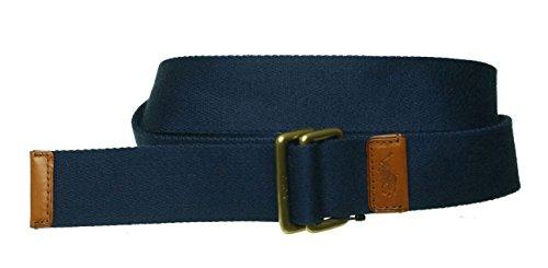 Polo Ralph Lauren Men's Classic Webbed Belt Navy X-Large - Lauren Cotton Belt