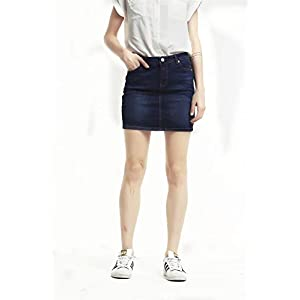 OppaaL Women's Casual Mini Stretch Denim Package Hip Jean Skirt