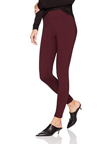 Amazon Brand - Daily Ritual Women's Ponte Knit Legging, Burgundy, Large Long (Best Place To Get Jeggings)