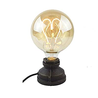 Retro Style Steam Punk Water Pipe Table Lamp Accent Lighting Fixture