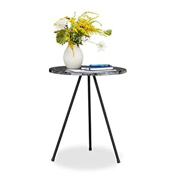 MarbrePetite Relaxdays D'appoint Hxlxp Aspect Ronde Table n08OXkwP