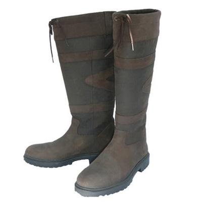 Toggi Quebec Unisex Waterproof Leather Boot In Chocolate Brown, Size: 4 (EU 37) by William Hunter Equestrian