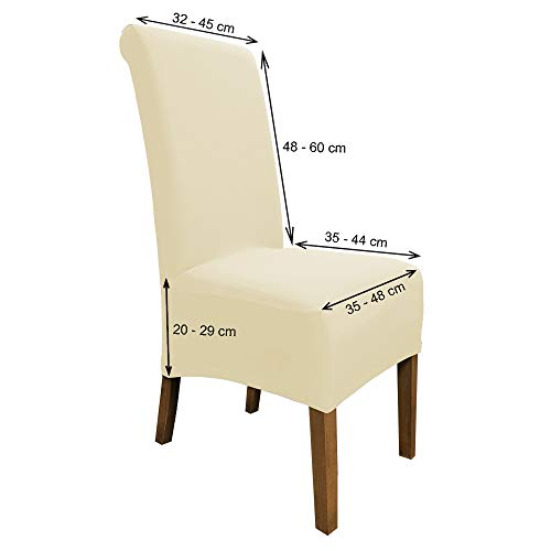 Scheffler Home Emma Chair Covers 2 Set Cotton Stretch