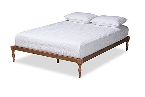 Baxton Studio Iseline Modern and Contemporary Walnut Brown Finished Wood Queen Size Platform Bed Frame