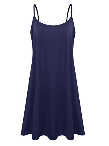 Loose Element Blue Casual Women's Swing Dress Navy Slip Size Spaghetti 7th Plus YqggF