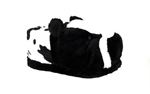50+ STYLES - PREMIUM FULL FOOT Happy Feet Mens and Womens ANIMAL SLIPPERS Cow