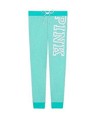Victoria's Secret Pink Jogger Sweatpants Aqua - Small (Sweatpants Victoria)