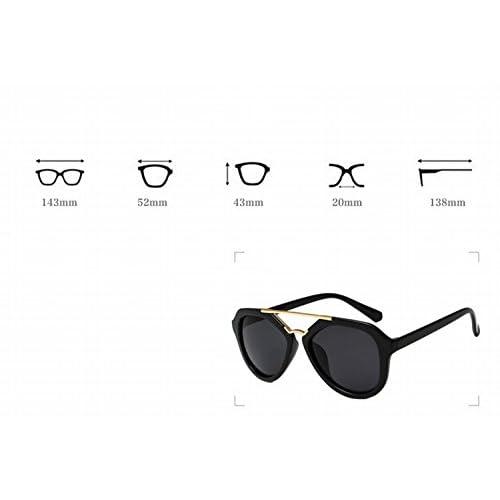 5c2c567b5c Gafas de Sol de Moda Gafas de Sol Grandes Mujer Marco Mercurio Blanco Y  Negro Brillante