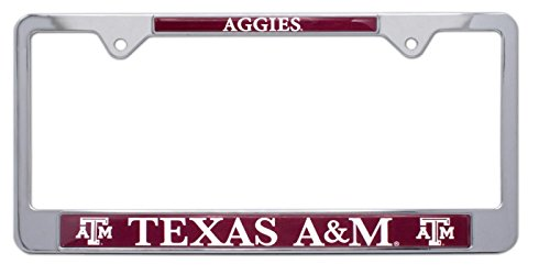 All Metal NCAA TAMU Aggies Mascot License Plate Frame (Texas ()