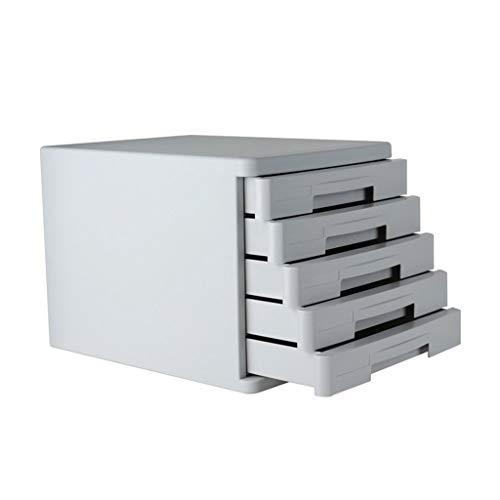 Iash Y Case Gabinete de Archivos de 5 Capas 5 cajones Etiqueta plástica Organizador Caja A4 Oficina Hogar Clasificadores de...