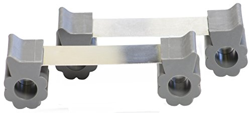 Door Stopper - Revolutionary New Design Stops Movement Forward and Backward - Holds Doors Securely in Place - Ideal for Pet And Child Safety Interior and Exterior Doors - 2 Door Stops Per Pack - Grey by GTP (Image #1)