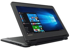Newest Black Flip design Lenovo 11.6-inch Touchscreen 2-in-1 Business Laptop, Intel Celeron N3060, 4GB Memory, 32GB eMMC, Webcam, Wifi, Bluetooth, Windows 10 Professional (PC) by Lenovo (Image #3)