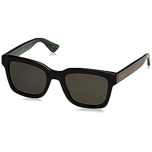 Gucci GG 0001S 006 Black Plastic Square Sunglasses Grey Polarized Lens