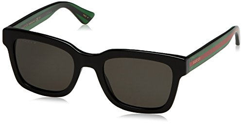 3ca19a9672c Gucci GG 0001S 006 Black Plastic Square Sunglasses Grey Polarized Lens