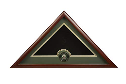 Allied Frame US Army Interment American Burial Flag Display Case with Official Army Medallion