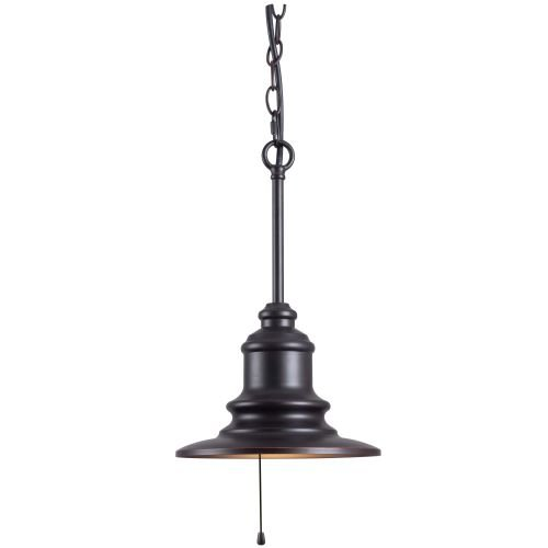 Kenroy Home 93031ORB Broadcast 1-Light Outdoor Pendant, Blackened Oil Rubbed Bronze