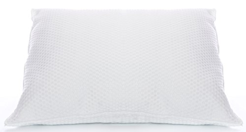 Soft Queen Bed Pillow with Basket Weave Knit Shell and Hypoa