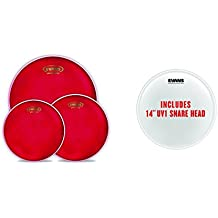 """Evans Hydraulic Red Rock Pack (10"""", 12"""", 16"""") with 14"""" UV1 Coated Snare Batter (EPP-HRUV1-R)"""
