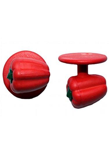 boutons couleurs Paprika pfe taille kochknopf de noir diffrentes pices de boutons 12 Kochkn Rouge unique wECzFxF