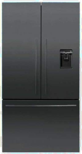 (Fisher Paykel RF201ADUSB5 36 Inch Counter Depth French Door Refrigerator with 20.1 cu. ft. Total Capacity, in Black Stainless Steel)