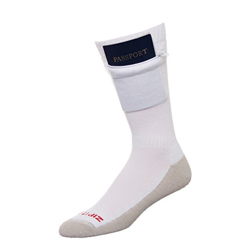Pocket Socks by Zip It Gear - Passport Security Travel Socks, Womens (One Size Fits All)