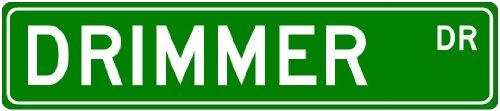 DRIMMER Family Lastname - Aluminum Street Sign - 6 x 24 Inches