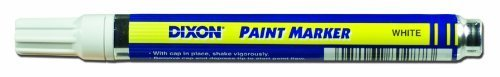 Dixon Paint Markers, Medium Tip, Box of 12, White (80229) by Dixon