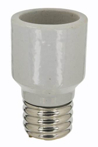 Socket Leviton Extensions (Leviton 8647-100 Mogul Base, One-Piece, Adapters/Extensions, Incandescent, Glazed Porcelain Lampholder, 2-3/8-Inch, For Porcelain Sockets Only, White)