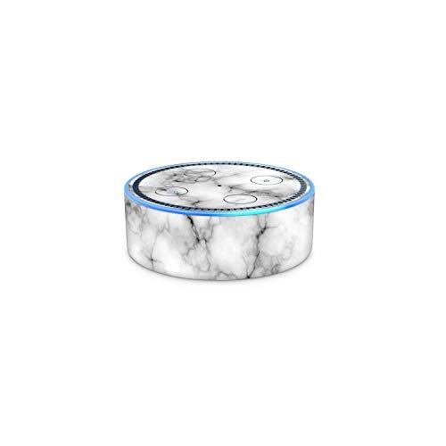 White Marble Amazon Echo Dot (2nd Generation) Vinyl Skin