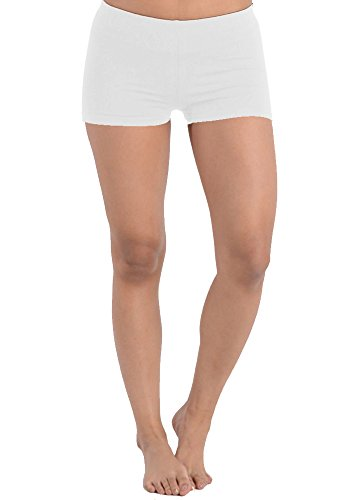 Women's Plus Size Juniors Shorts Cotton Comfortable Stretch Short Bottoms (1X, Pure White) ()