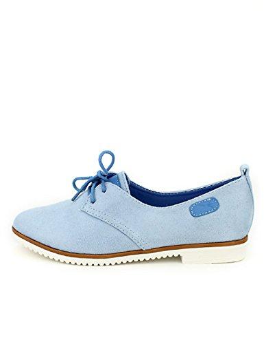 Femme Lady Glory Bleue Ciel Derbies Chaussures Simili Cendriyon Peau Bleu A86tq