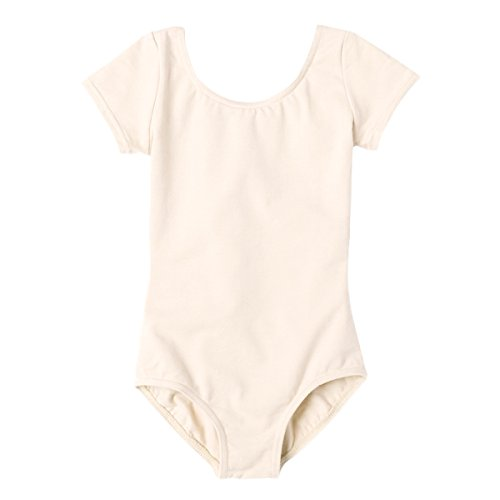 Buenos Ninos Girls 7-14x Basic Short Sleeve Leotard