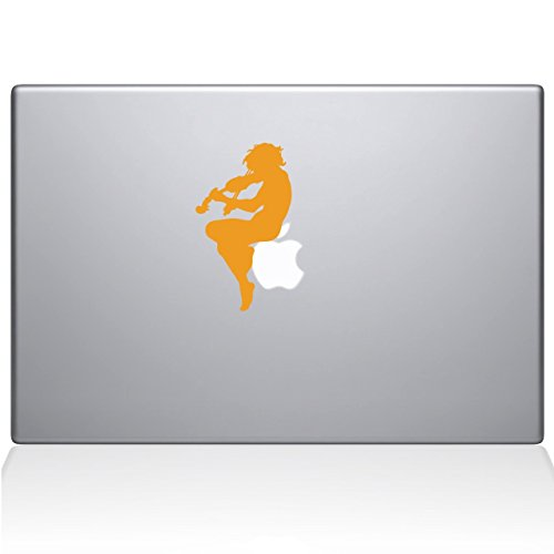 Cherub Playing Violin Macbook Decal, Yellow, Die Cut Vinyl Decal For Windows, Cars, Trucks, Tool Box, Laptops, Macbook- Virtually Any Hard, Smooth Surface