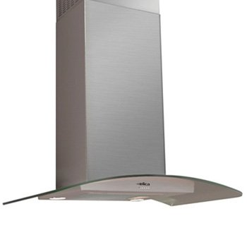 Elica Chimney Hoods - ELICA EPT436S1 Wall Mount Chimney Hood with 400 CFM Internal Blower, 3 Blower Speeds, Halogen Lamps, Stainless Steel Push Button Controls and Anodized Aluminum Mesh Filter