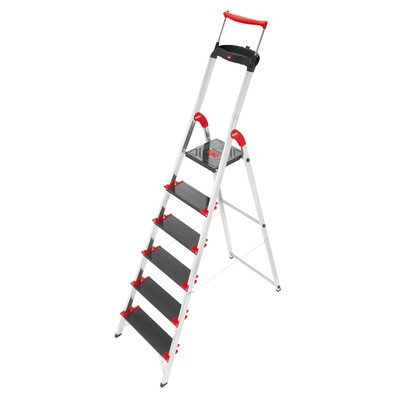 Championsline 6.23 ft Aluminum Step Ladder with 495 lb. Load Capacity