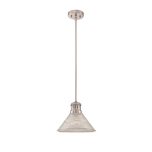 Lite Source LS-19792 Gale Pendant, Polished Steel Finish by Lite Source