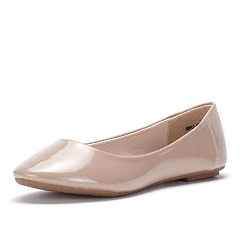 LE MIU SIMPLE Women's Casual Solid Plain Ballet Comfort Soft Slip On Flats ShoesNew Colors