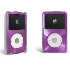 Purple Apple iPod Classic Hard Case with Aluminum Plating 80gb 120gb 160gb
